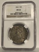 🌟wow Ms-62🌟 1832 Capped Bust Half Dollar Ngc Nice Looking Coin In High Grade