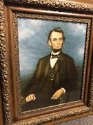 Antique Frame W/ Abe Lincoln Picture