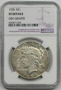 1928 1 Ngc Xf Details Key Date Peace Dollar