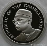 1993 Gambia Sterling 1oz Silver Proof 20 Dalasis Coin