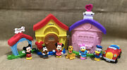 Lot Of Fisher Price Little People Magic Of Disney Mickey And Minnieand039s House