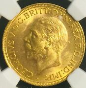 1929sa South Africa Great Britain Gold Sovereign Ms64 Ngc