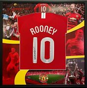 Wayne Rooney Back Signed Manchester United Shirt Football Shirt In A Frame