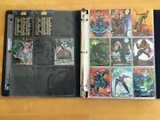 1992 Marvel Masterpieces Complete Trading Card Set 1-100 + 2 Spectra Cards Nm/mt