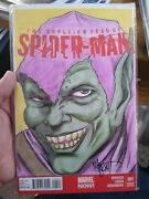 Superior Foes Of Spiderman 1 Blank With Green Goblin Sketch