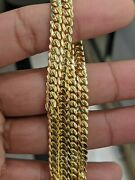 14kt Real Solid Gold Miami Cuban Chain