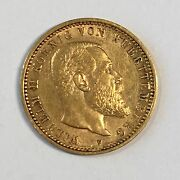 1904-f Germany Wurttemberg 10 Mark Gold Coin - High Quality Scans C925
