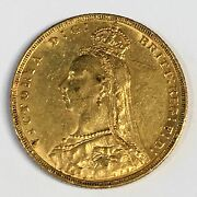 1891-m Great Britain Sovereign Gold Coin - High Quality Scans C875
