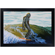 Creeping On The Nose By Mike Bell Surf Swamp Thing Monster Framed Wall Art Print