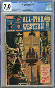 1972 All Star Western 10 Cgc 7.0 1st Jonah Hex White Pages