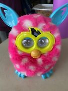 Hasbro Furby Boom 2012 Pink White Polka Dots With Blue Ears - Discontinued Model