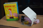 Vintage Plastic Bubbling Boy Toy Hong Kong Boxed New Old Stock