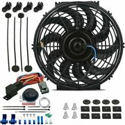 12 Inch 90w Electric Radiator Cooling Fan 12v Adjustable Temperature Switch Kit