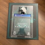 Assassins Creed Valhalla Collectors Edition + Statue Ps4 Playstation 4 In Hand