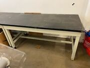 5and039 Lab Tables With Chem Resistant Tops And Metal Frames 62x30x30