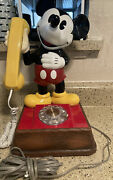 Vintage The Mickey Mouse Phone Landline Rotary Dial Telephone 1976 Disney