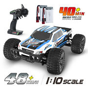Deerc 9200e Rc Cars 110 Scale 4wd Off Road Monster Truck With 2 Batteries Toys