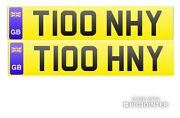 Pair Of Tony Number Plates✔️t100 Hny And T100 Nhy✔️tony Reg For Both Of Your Cars