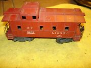 Vintage Lionel No. 6257 Caboose Southern And Pacific 1947 Red