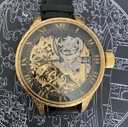 High Grade V And C Skeleton Pocket Watch Movement In New Marriage Watch Case 56 Mm