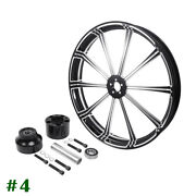 30and039and039 Cnc Front Wheel Rim Single Disc Wheel Hub Fit For Harley Touring Non Abs
