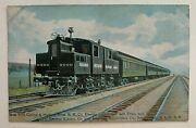 Rr Postcard New York Central And Hudson River Rr Railroad Electric Locomotive Nyc