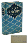 The Joy Of Cooking Signed By Irma S. Rombauer Autographed Early Reprint 1943