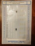 O Scale Microscale Decals 48-282 Southern Railway Bay Window Caboose 1960-1990