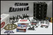 Bbc Chevy 555 Dart Short Block Forged Pistons Scat Crank And Rods +16cc Dome Top