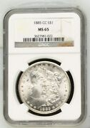 1885 Carson City Morgan Silver Dollar Certified Ms65 By Ngc