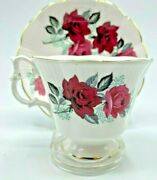 Royal Albert Teacup And Saucer Large Red Roses Cabbage Rose