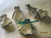 Lot Of 6 Usa Steel Metal Cookie Cutters Collection Foose Bird Heart Squirrel +