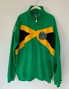 Rare Lrg Lifted Research Group Sz Xl Track Jogging Jacket Jamaica Flag Full Zip