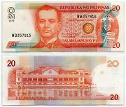 2010 Philippines Nds 20 Piso Pick 182k Mixed Serial 357815 357816 Error Rare