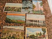 Linen 25 Postcard Lot Roadside Americana Wwii Era And Pre. Wwii + 7 Foreign Ca