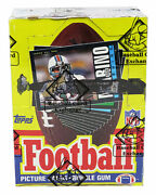 1985 Topps Football Wax Box Bbce Wrapped Sealed- 36 Packs Possible Warren Moon