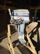 Evinrude 25hp Outboard - Electric Start - Used Working