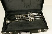 1970and039s Bach Stradivarius Pro Model 37 Bell Sterling Silver Case Used 83636