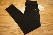 Nwt Women' S Democracy Jeans Abtechnology Pull On Glider Ankle Black Petite