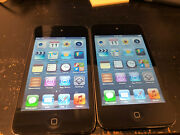 Lot Of 2x Apple Ipod Touch 4th Generation Black 16 Gb Bad Lcd A219