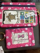 Simply Southern Wristlet Wallet /keychain Id Combo New