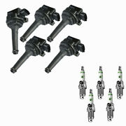 Uf341 Ignition Coil + E3 Racing Spark Plugs For Volvo S80 V70 Xc70 Xc90