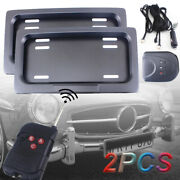 Us Shutter Cover Electric Stealth Usa Standard License Plate Frame W/ Remote