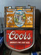 Coors Shield Lighted Beer Sign Vintage 1970's