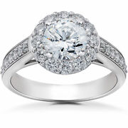 G Si 2 Ct Halo Eco Friendly Lab Grown Diamond Engagement Ring 14k White Gold
