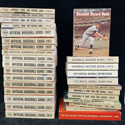 Lot Of 30 Tsn The Sporting News Official Baseball Guides Record Books + More