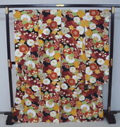 0408 Significantly Tailoring Kismith Furisode Red Tachibana Flowers