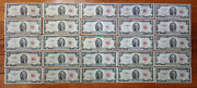 Lot 25 Vf-xf Red Seal 2 Two Dollar Bill 1953-1963 A B Us Note=50 Face Not Junk