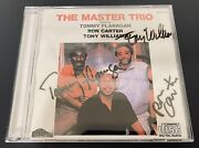 The Master Trio Cd - Tony Williams Ron Carter Tommy Flanagan - Signed By All 3