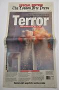 911 9/11 9-1-1 Special Edition The London Free Press Newspaper Sept.12 2001